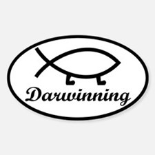 Darwinning Evolution Darwin Fish Decal