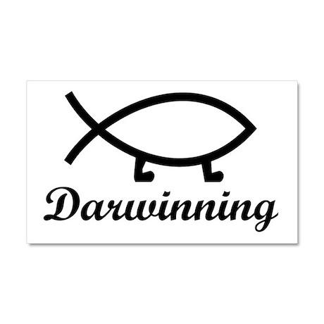 Darwinning Evolution Darwin Fish Car Magnet 20 x 1