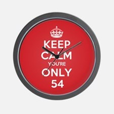 K C Youre Only 54 Wall Clock