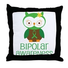 Bipolar Awareness (Owl) Throw Pillow
