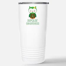 Bipolar Awareness (Owl) Stainless Steel Travel Mug