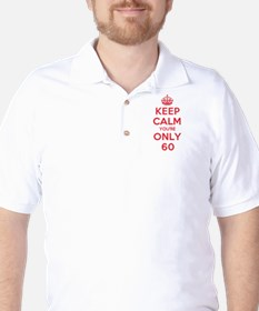 K C Youre Only 60 Golf Shirt