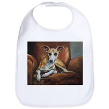 Whippet on Chair Bib