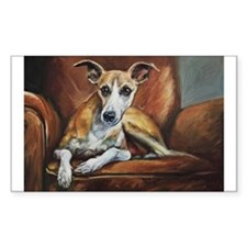 Whippet on Chair Decal
