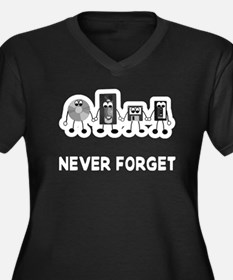 Never Forget Obselete Women's Plus Size V-Neck Dar