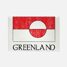 Retro Greenland Flag Rectangle Magnet