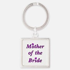 Mother of the Bride Love Square Keychain