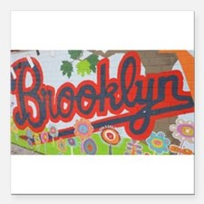 """Brooklyn - Red Road to Mars Square Car Magnet 3"""" x"""