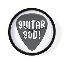 Guitar God Pick Wall Clock