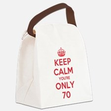 K C Youre Only 70 Canvas Lunch Bag