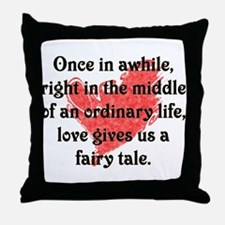 Fairy Tale Love Throw Pillow
