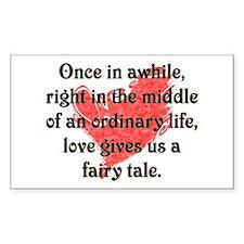 Fairy Tale Love Rectangle Bumper Stickers