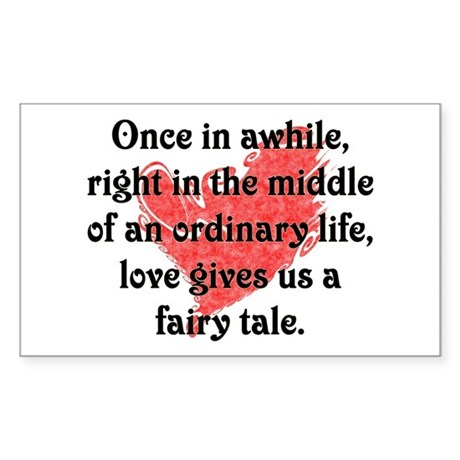 Fairy Tale Love Rectangle Sticker