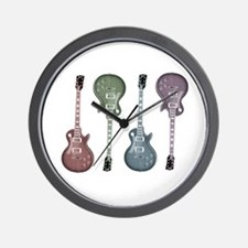 Guitar Graphic Wall Clock