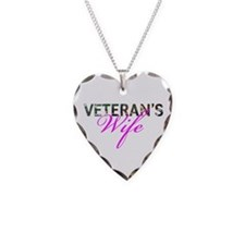 BDU Army Vet Wife Necklace Heart Charm