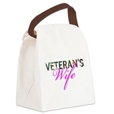 BDU Army Vet Wife Canvas Lunch Bag