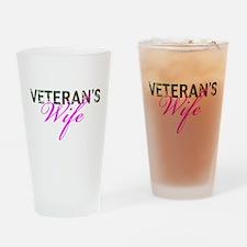 BDU Army Vet Wife Drinking Glass