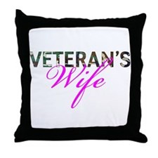 BDU Army Vet Wife Throw Pillow