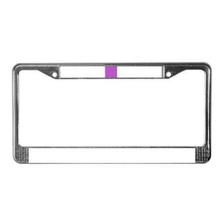 Purple Horizontal Stripes License Plate Frame
