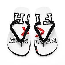 Real Men Fish Flip Flops