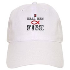 Real Men Fish Baseball Cap