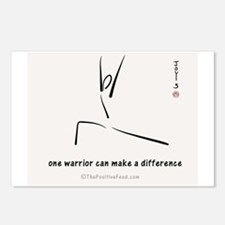 One Warrior Postcards (Package of 8)