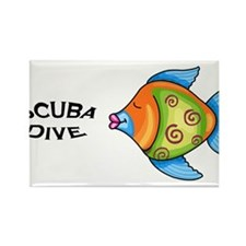 Scuba Dive Rectangle Magnet