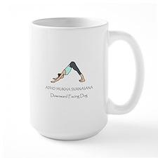Downward Facing Dog Yoga Pose Mug