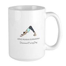 Downward Facing Dog Yoga Pose Mug