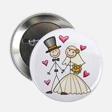 "Bride and Groom 2.25"" Button"