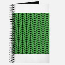 Green Zigzag Pattern. Journal