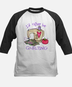 I'd Rather Be Quilting Kids Baseball Jersey