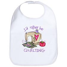 I'd Rather Be Quilting Bib