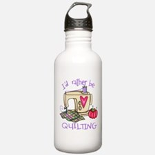 I'd Rather Be Quilting Water Bottle