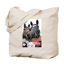 Valentine's Day Horses Tote Bag