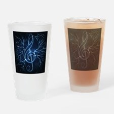 Lightning And Musical Sign - Drinking Glass