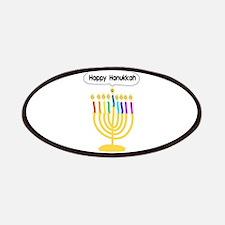 Happy Hanukkah Menorah Patches