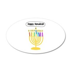 Happy Hanukkah Menorah Wall Decal