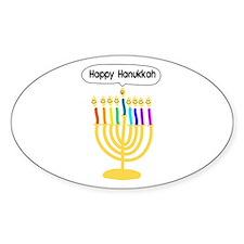 Happy Hanukkah Menorah Decal