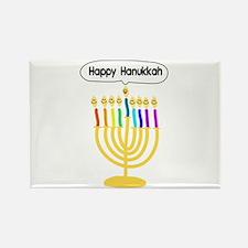 Happy Hanukkah Menorah Rectangle Magnet