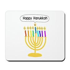 Happy Hanukkah Menorah Mousepad