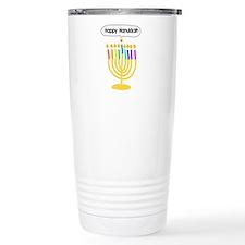 Happy Hanukkah Menorah Travel Mug