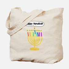 Happy Hanukkah Menorah Tote Bag