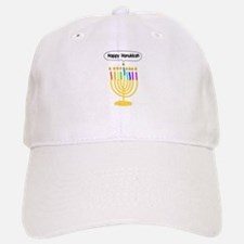Happy Hanukkah Menorah Baseball Baseball Cap
