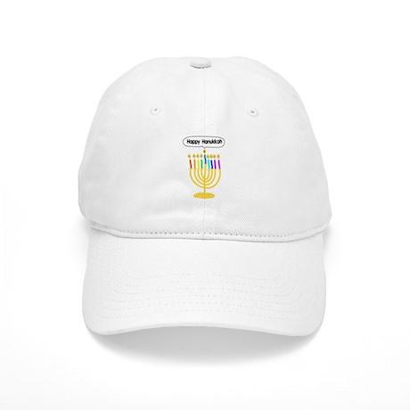 Happy Hanukkah Menorah Cap