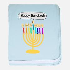 Happy Hanukkah Menorah baby blanket