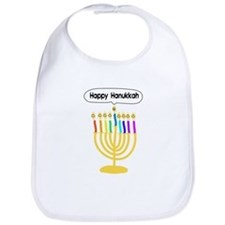 Happy Hanukkah Menorah Bib