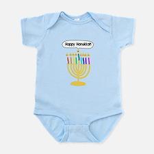 Happy Hanukkah Menorah Infant Bodysuit