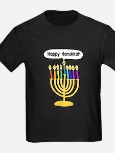Happy Hanukkah Menorah T