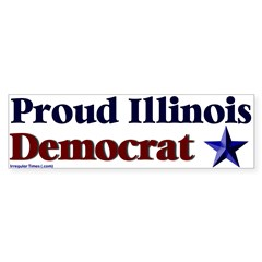 Proud Illinois Democrat Bumper Bumper Sticker